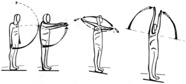 Arbeitsplatz in Bewegung - Übungen für den Bildschirmarbeitsplatz - Übung 2