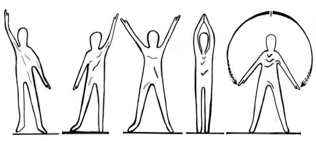Arbeitsplatz in Bewegung - Übungen für den Bildschirmarbeitsplatz - Übung 3